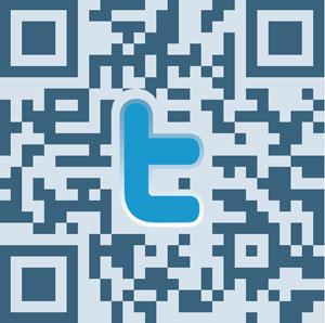 Via qr-codes reclame maken voor je twitter-adres