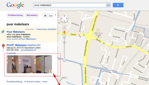Google bedijfsfoto's in Google Maps