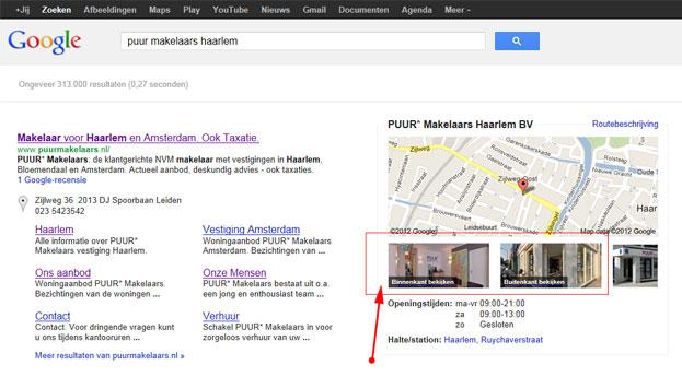 Google bedrijfsfoto's in de zoekresultaten