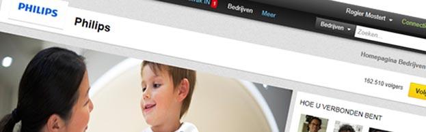 Nieuwe vormgeving LinkedIn bedrijfspagina