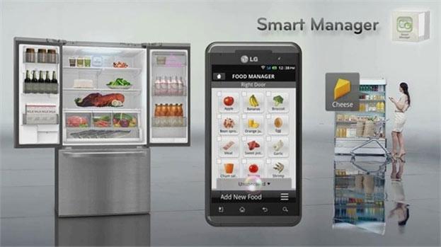 Slimme koelkast van LG