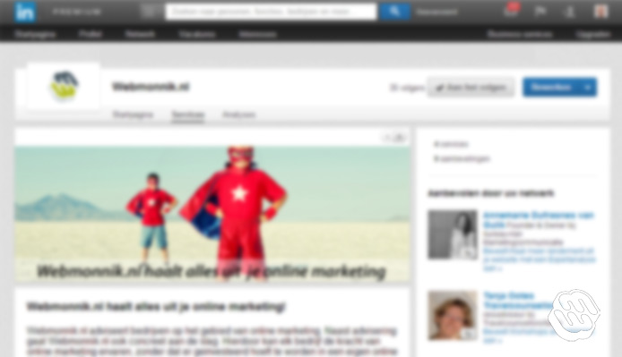 Tabpagina Linkedin products en services