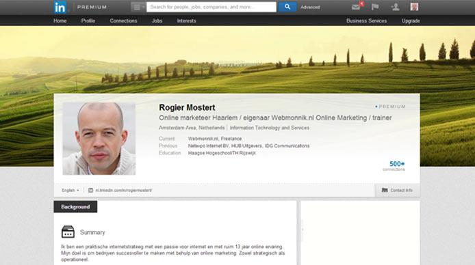 Linkedin lanceert background image voor persoonlijke profielen