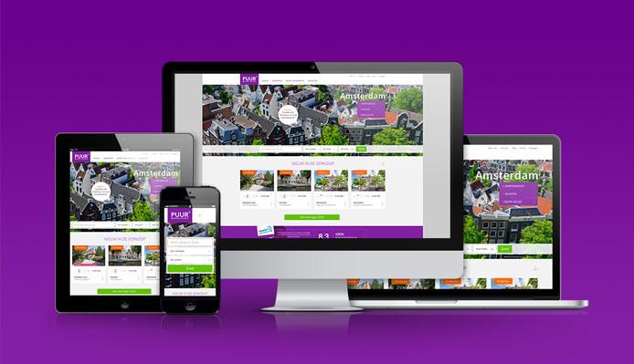 Nieuwe website Puur Makelaars