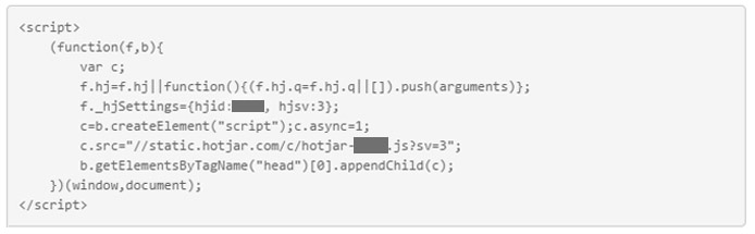 Hotjar tracking code