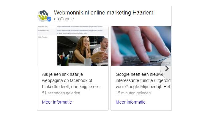 Blogposts voor je bedrijfsvermelding-op Google: meerdere items