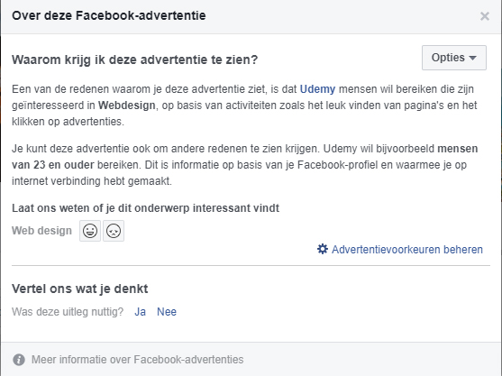 Informatie over advertenties