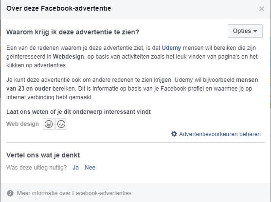 Informatie over advertenties