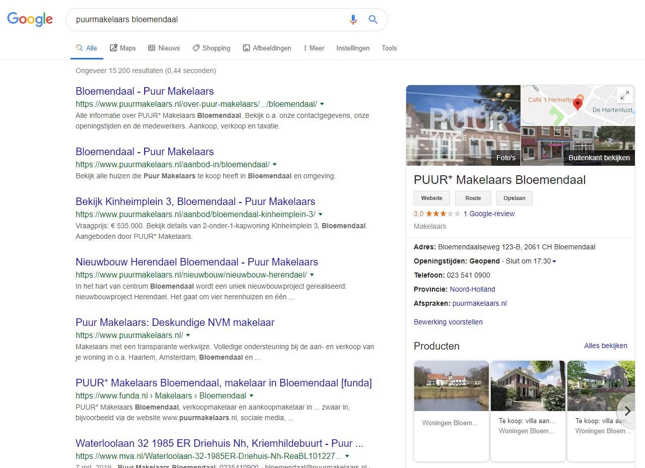 Je producten worden op Google Maps getoond